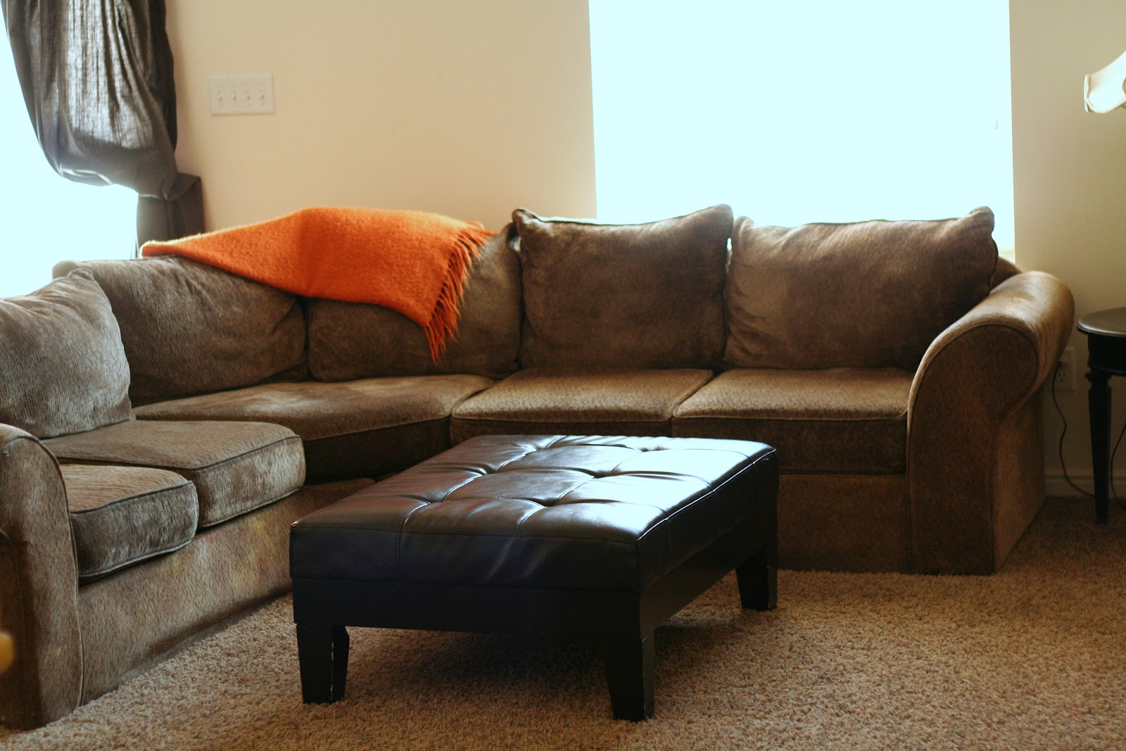 Chenille Sectional Silver Coast Company Dark Brown Fabric Sectional Sectional Sofas With