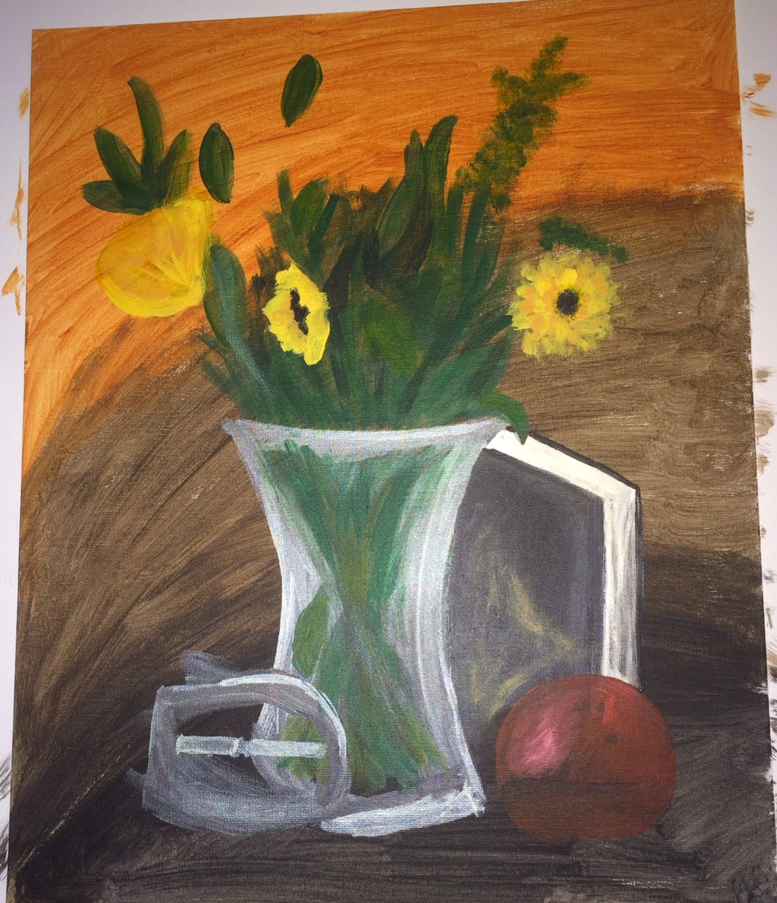 Still life painting of flowers in vase with book | Business, Life & Design