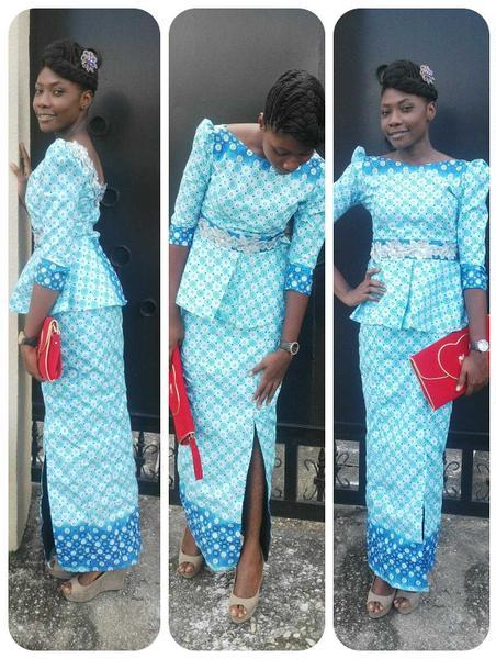 Skirt And Blouse Sew With Ankara 104