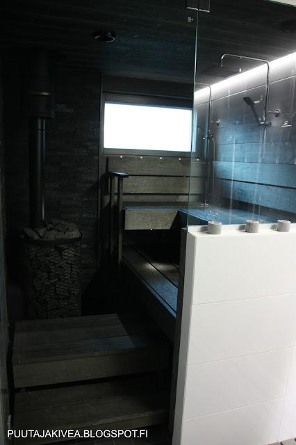 Puuta ja kiveä -raksablogin harmaa sauna