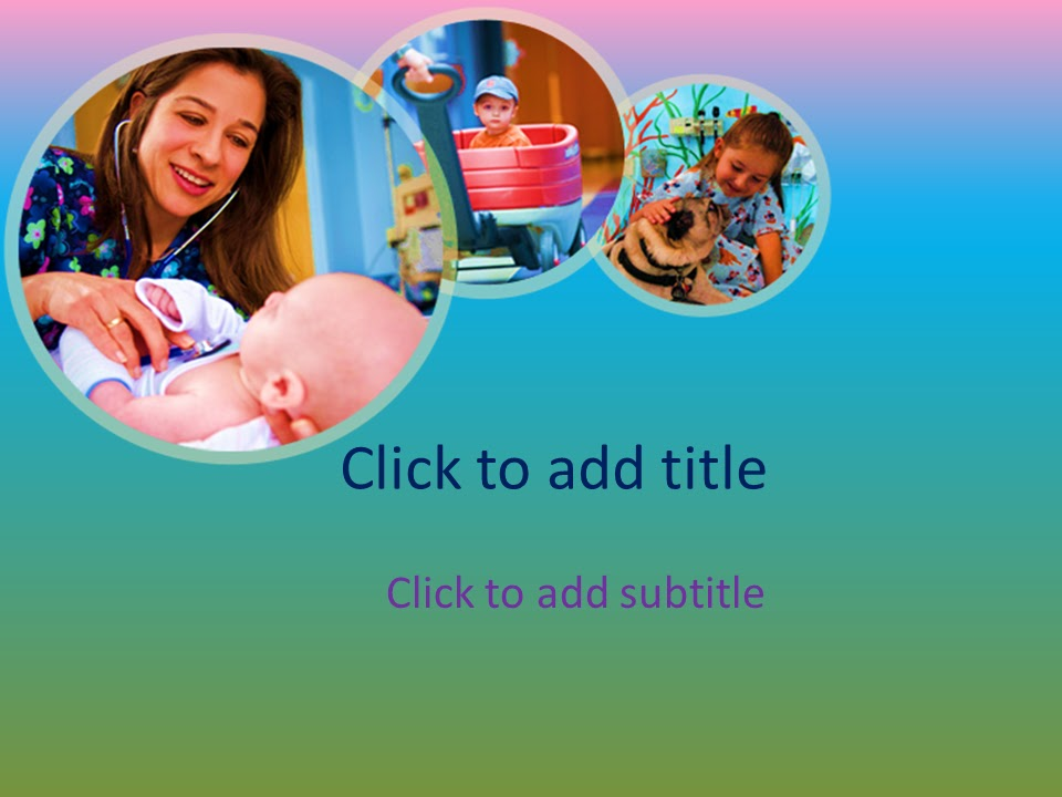 pediatrics powerpoint template - free download ~ free medical, Powerpoint templates