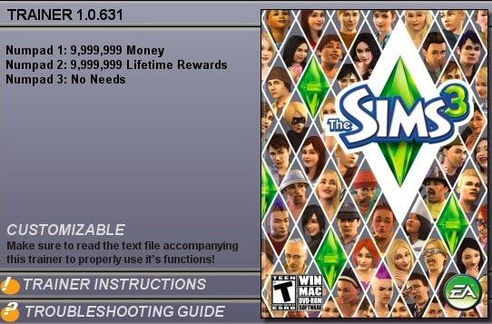 скачать трейнер для sims 3