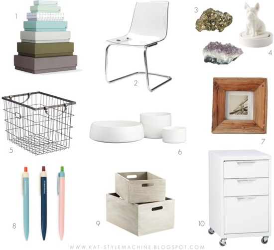pretty office accessories shopping list