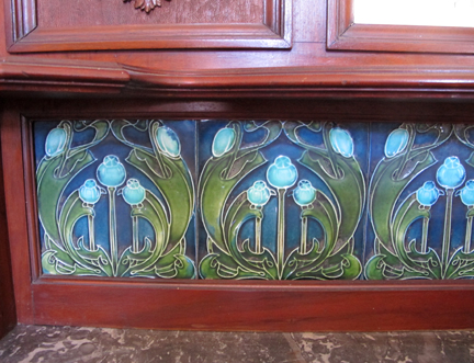antique art nouveau furniture tile
