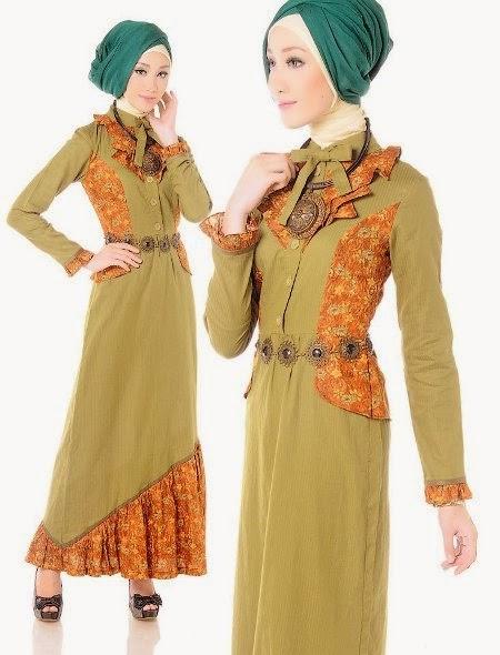 Model Baju Gamis Batik Untuk Wanita Muslimah Model Baju