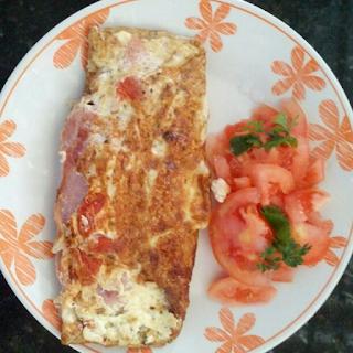 Vapt e vupt: Omelete  light de claras com peito de peru!