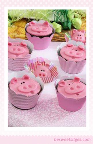Decoraci n en fondant de cupcakes cerditos adorables for Decoracion en cupcakes