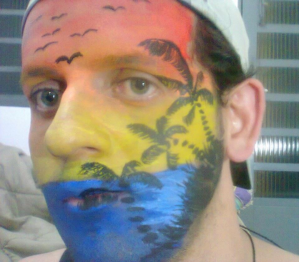 Pintura Facial Artística - Paisagismo