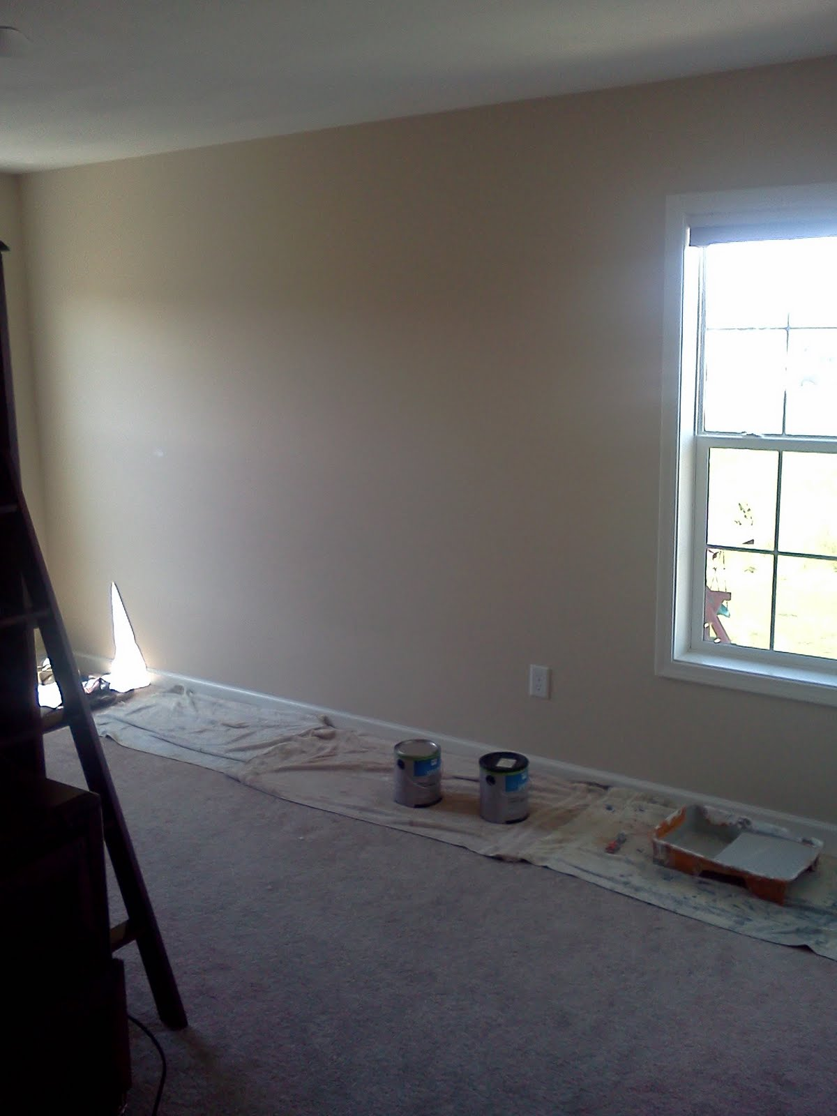 """We were contracted to paint this room for two really cute little guys who wanted a """"Yankee game room!"""" with lots of stripes. Well, as die hard Yankee's fans ..."""