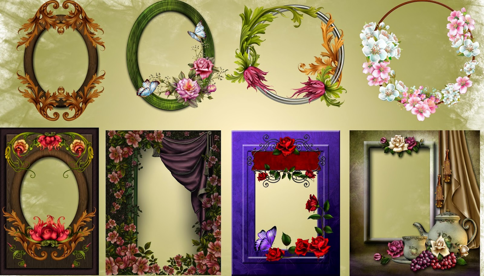 Frames with Roses Nice png Collection for photoshop