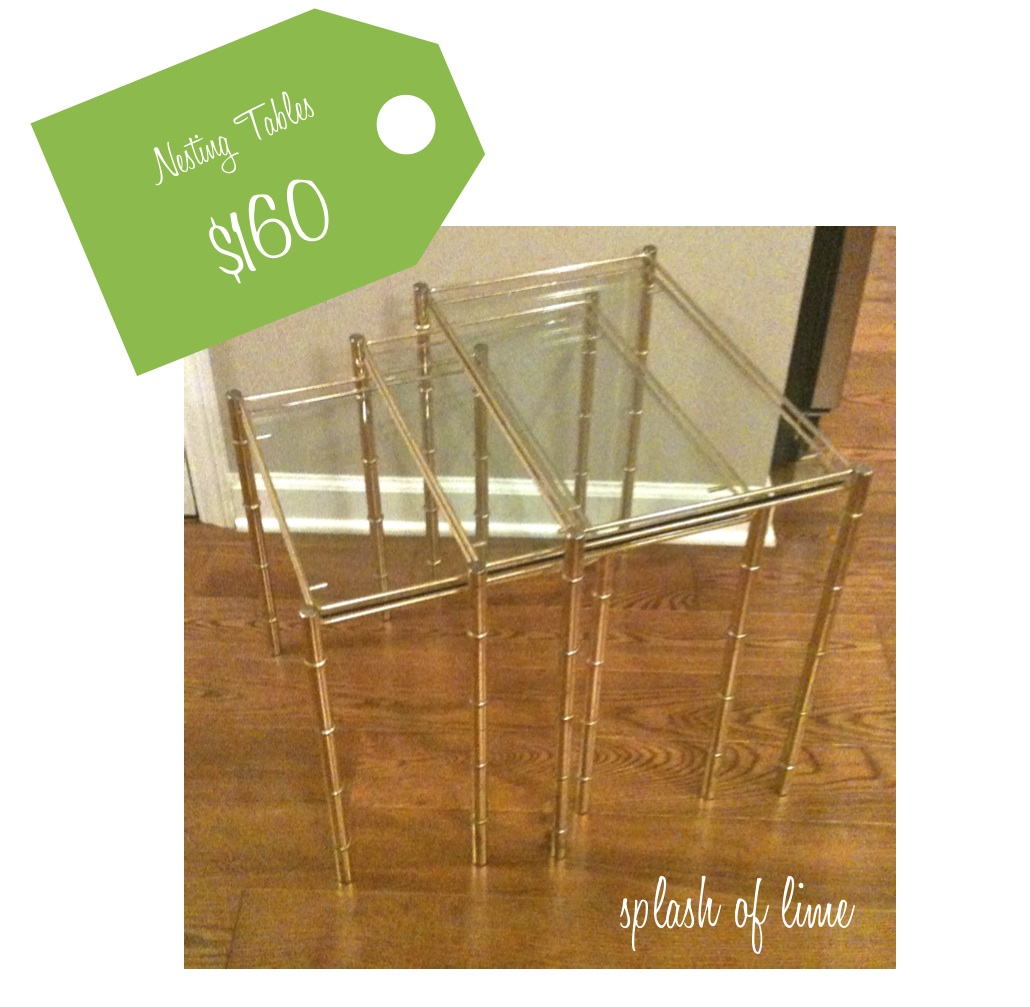 Lovely Never Fear, This Story Ends Happily. Gigi Found This Set Of Three Faux  Bamboo Brass And Glass Nesting Tables And They Are FOR SALE.