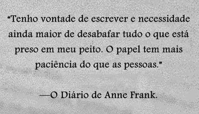 Frase de O Diário de Anne Frank