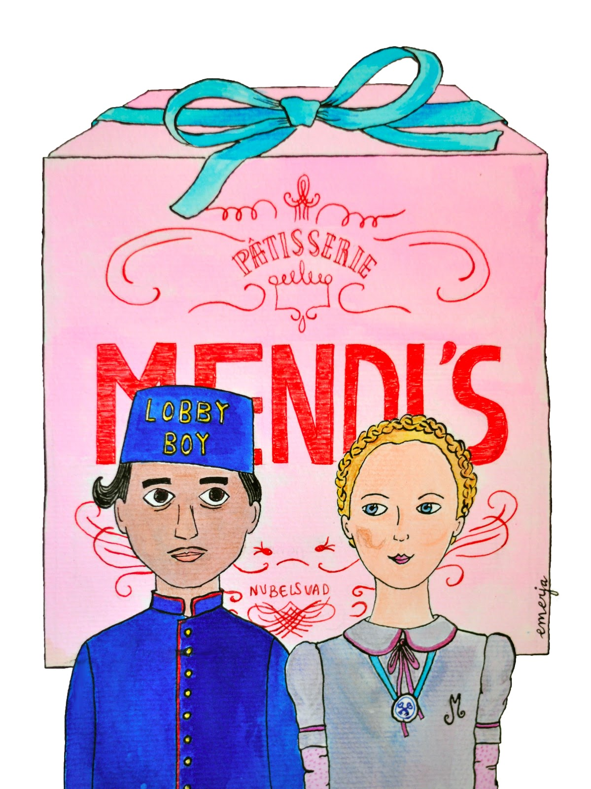 The Grand Budapest Hotel illustration
