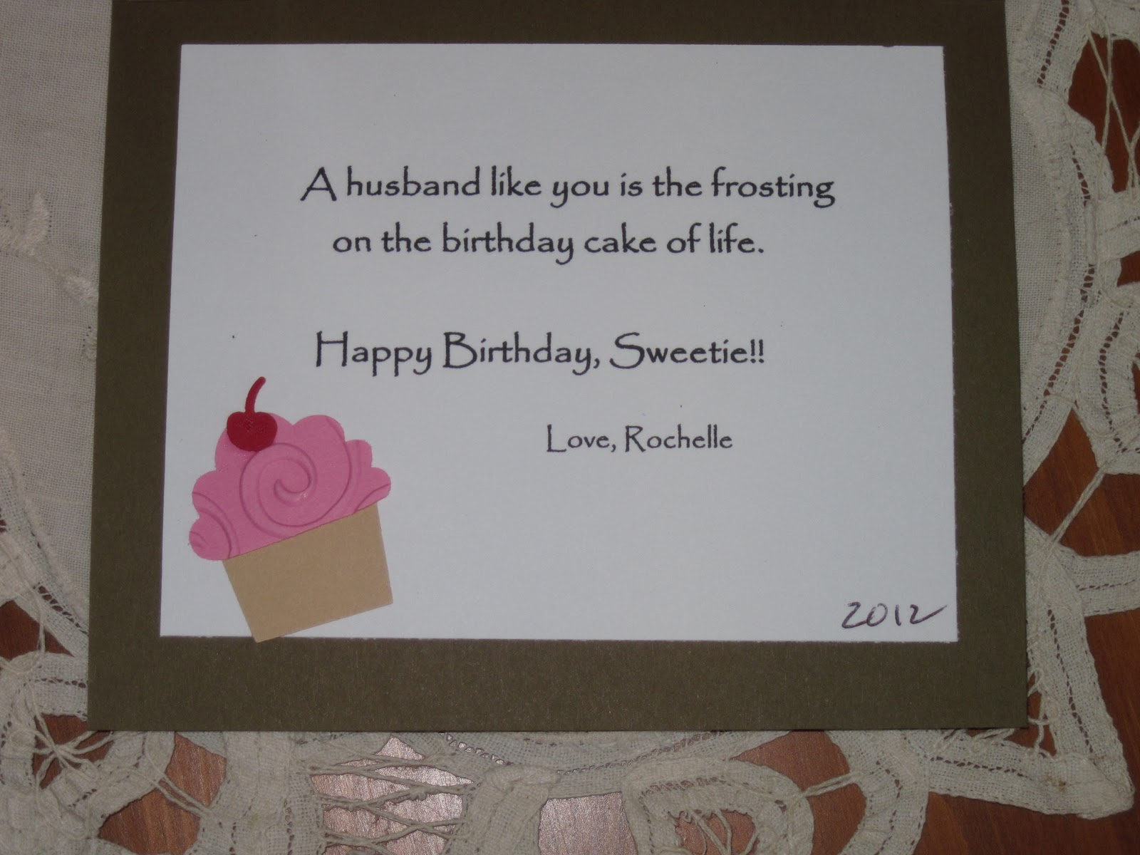 Creative Corner Studio Husband s Birthday Card