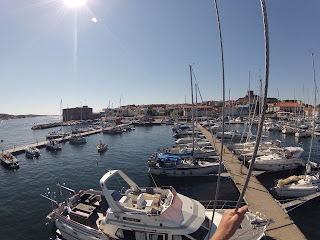 View from the top of the rig in Marstrand, after landfall.