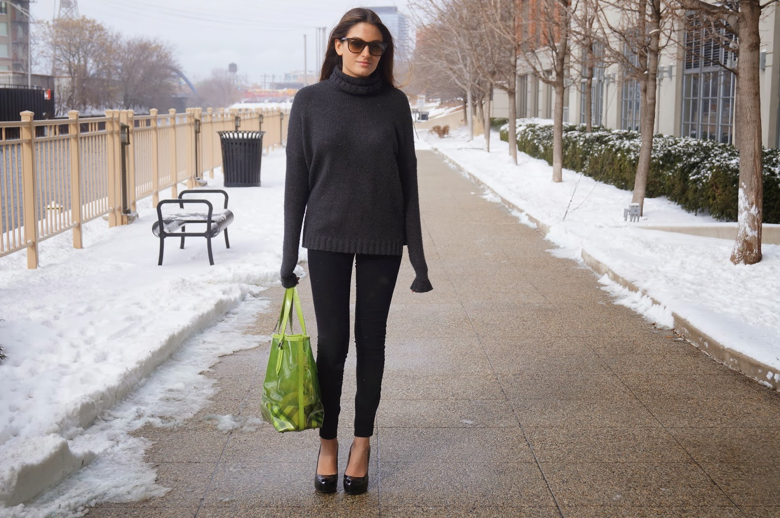 vince black cashmere sweater