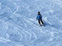 Me, skiing