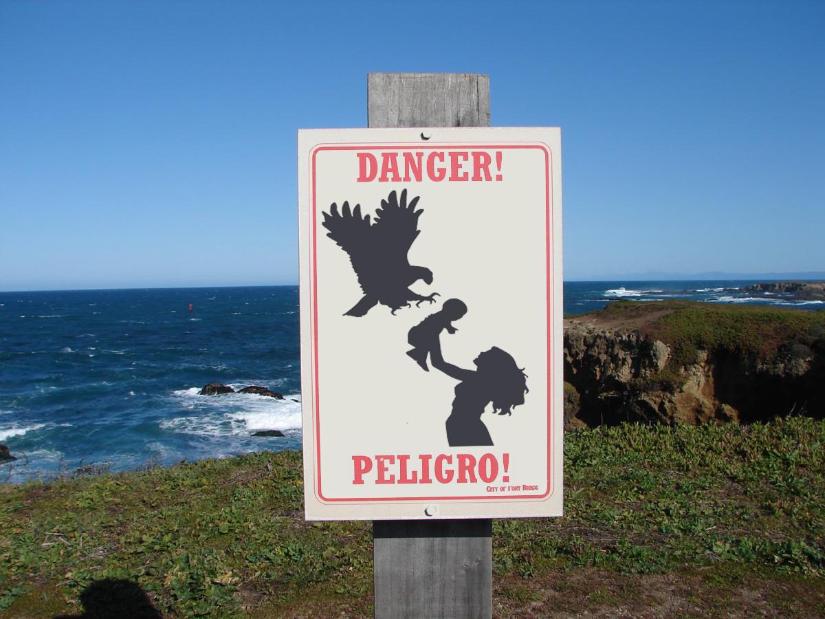 playa con un bebé peligro