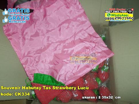 Souvenir Habutay Tas Strawbery Lucu jual