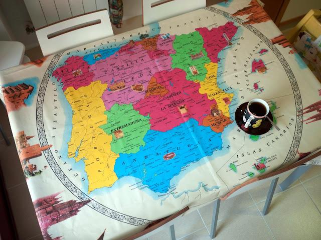 Mantel de mapa de españa