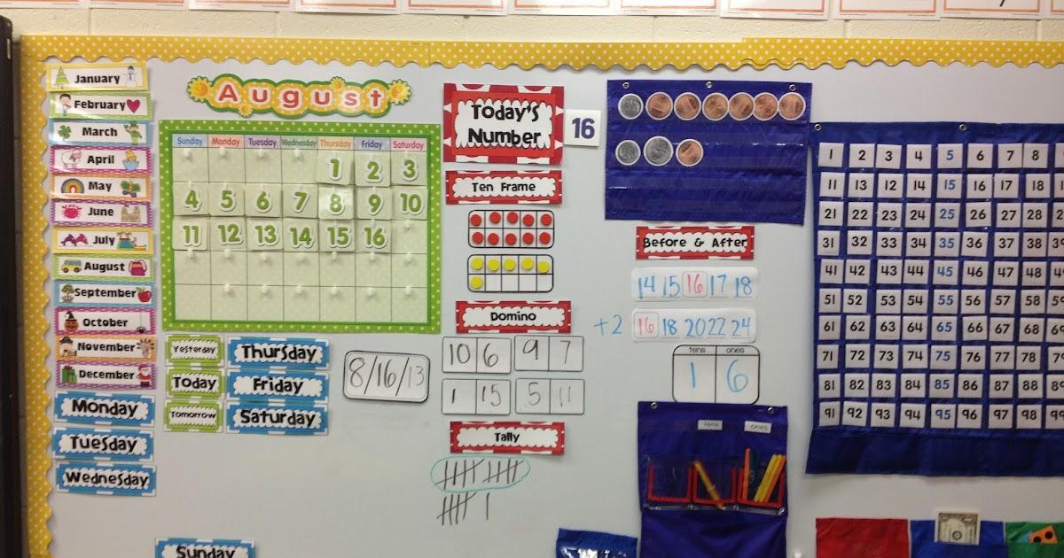 Kroger\'s Kindergarten: Today\'s number: calendar routine.