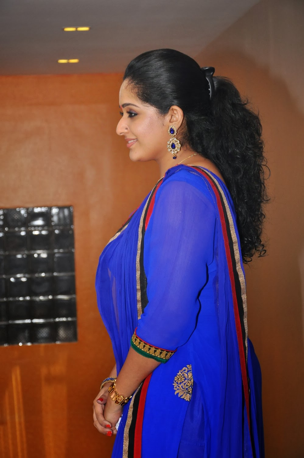 Karthika Nair Hot Navel In Saree Actress Kavya Ma...