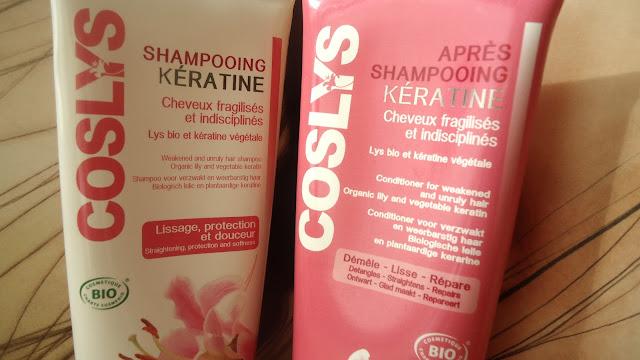 Coslys, duo de soins capillaires pour cheveux fragilisés et indisciplinés.