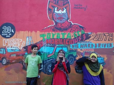 cek mek molek street art, kelantan street art, machang street art, cara pergi street art kelantan
