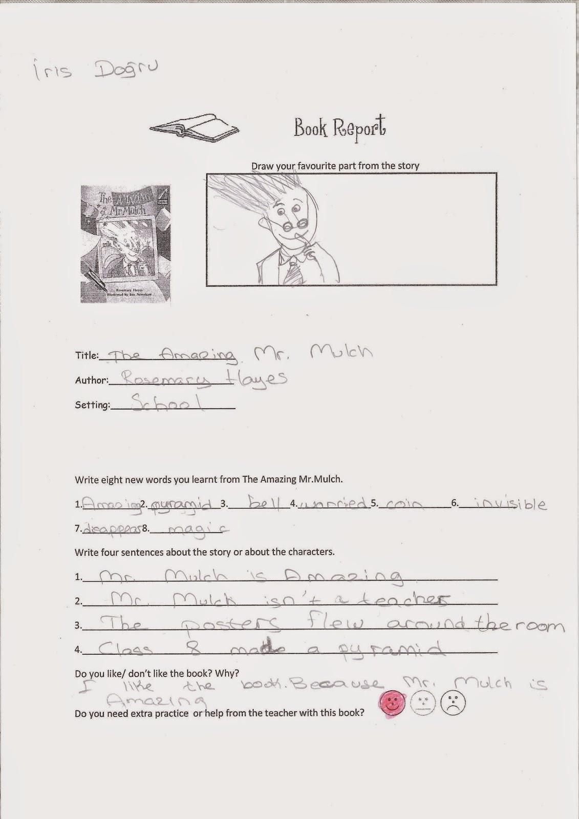 Grade Book Report Templates grade book report grade fantabulous – Book Report Template Grade 2