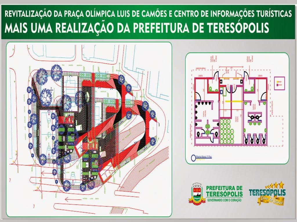 Prefeitura de Teresópolis inicia a remodelação da Praça Olímpica