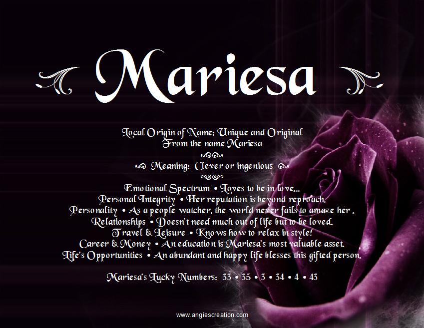 Mariesa | Unique Names