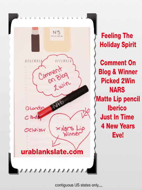 giveaway, nars, maryland, blogger, nordstrom, sephora, ultra, loriannmd, Facebook, twitter, christmas, lori tauraso, frederick md, cheers, red lip, lip pencil, shopping, new years eve, blankslate, urablankslate,