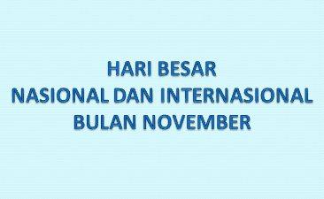 Hari Besar Nasional dan Internasional Bulan November