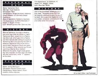 Diablo de Tasmania (ficha dc comics)