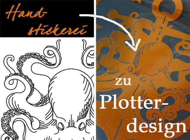 DIY: Plotterdesign aus Stickdatei erstellen @frauvau.blogspot.de
