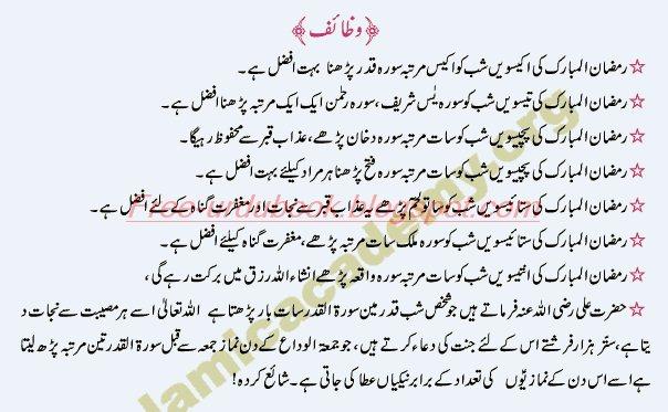 Shabe Qader kay nawafil or Fazilat