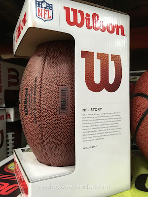 Drop back to pass or run a read option play with the Wilson Replica NFL Football