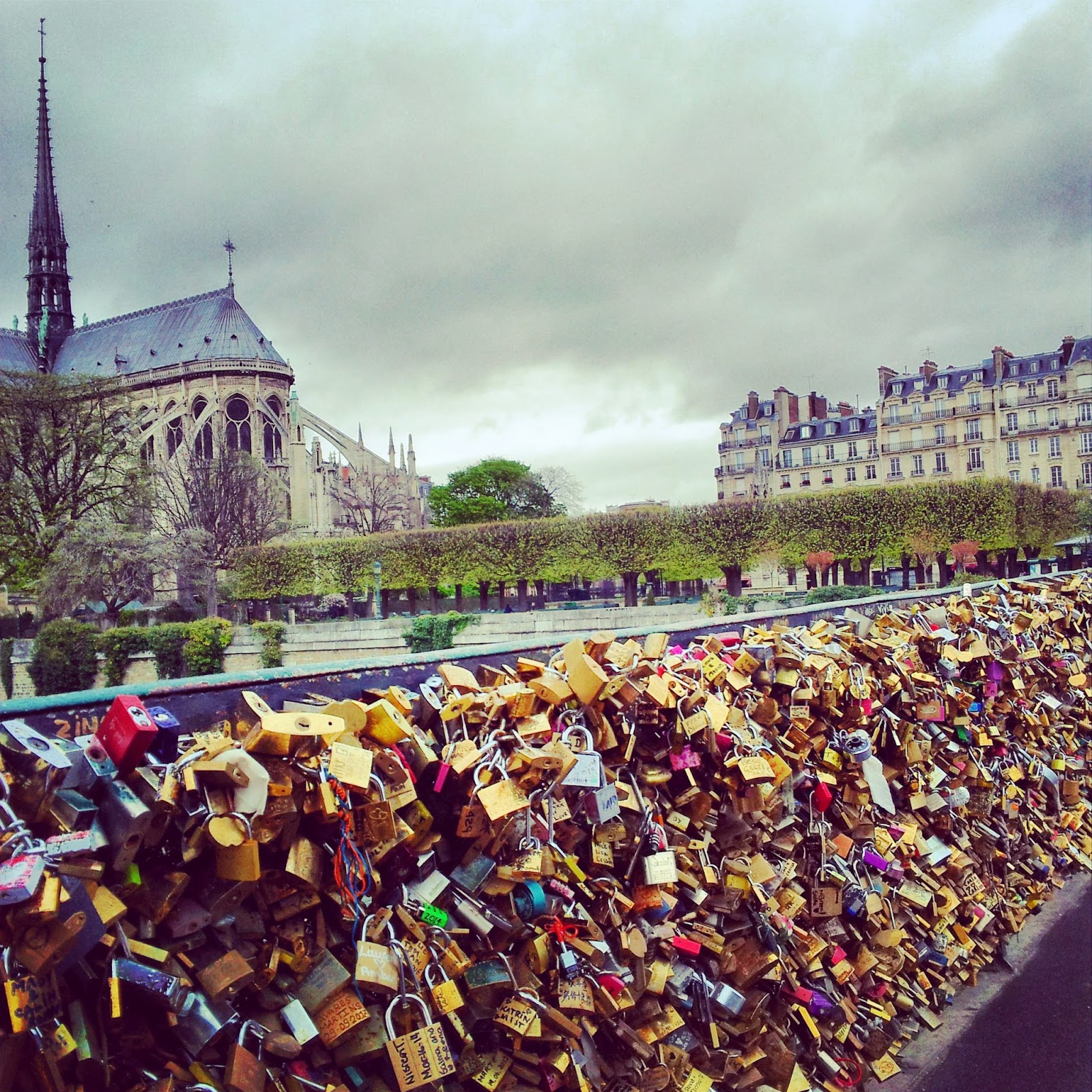 Paris, love locks