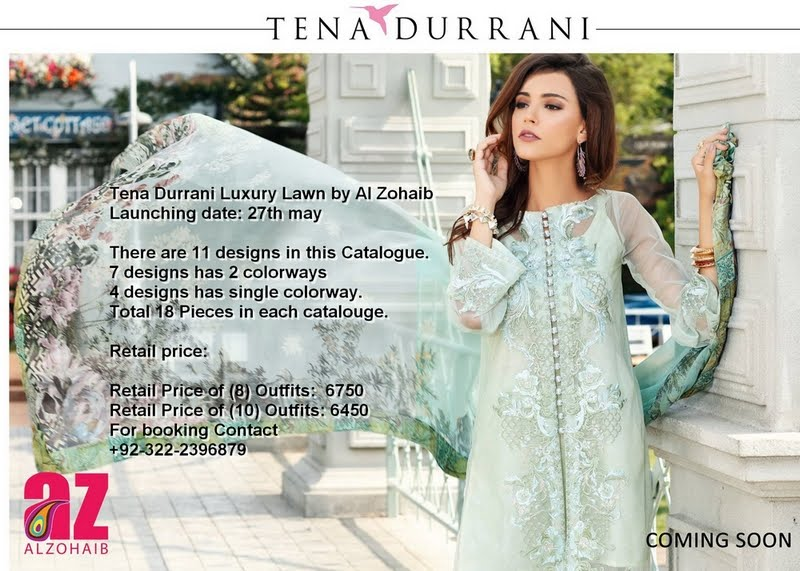 Tena Durrani Luxury Lawn by Al Zohaib
