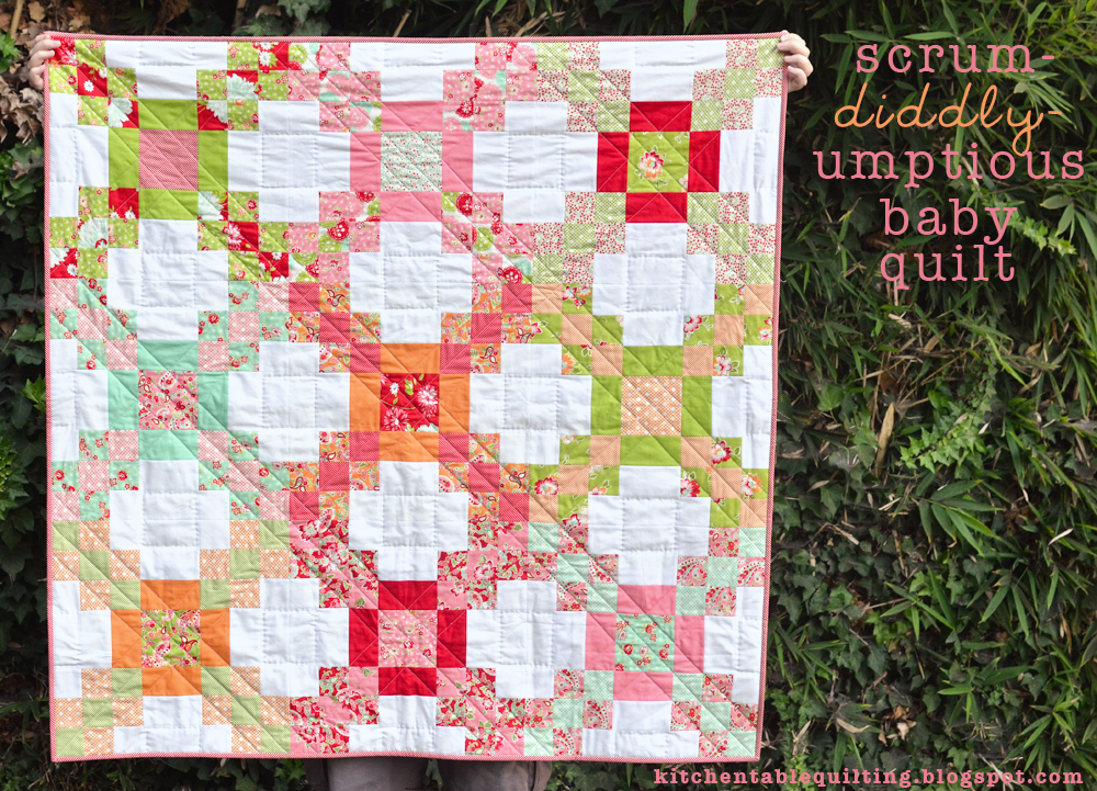 Moda Free Quilt Patterns For Jelly Rolls : Scrum-diddly-umptious Baby Quilt Moda Bake Shop