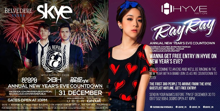 New Year Countdown at the Bonifacio Global City (BGC), Taguig City Skye and Hyve