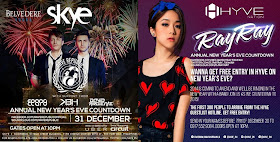 New Year Countdown at the Bonifacio Global City (BGC), Taguig City Skye and Hyve