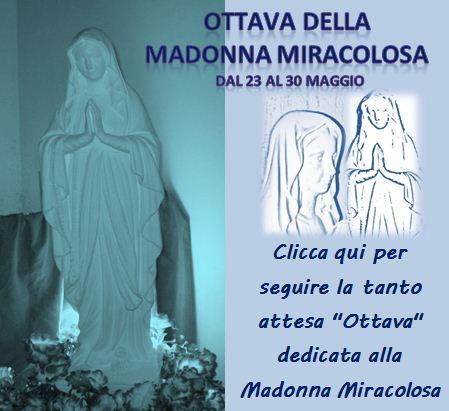 clicca qui per seguire L'Ottava in onore della Madonna Miracolosa