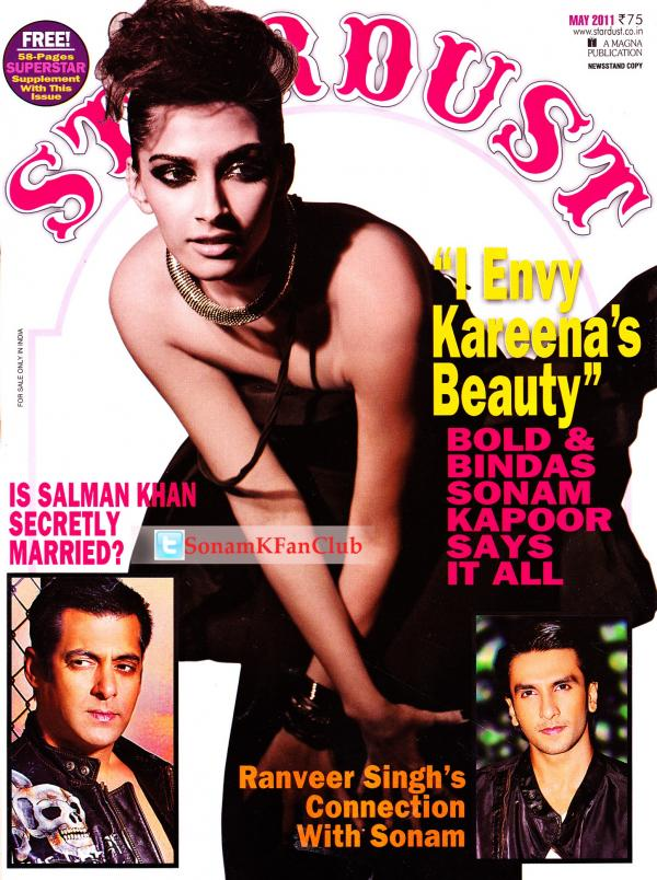 Sonam Kapoor On StarDust Magazine Cover May 2011