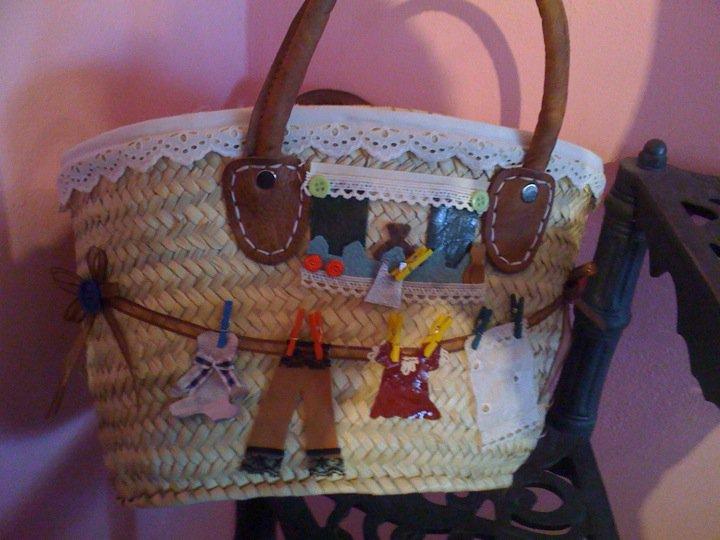 Borse Di Paglia Decorate Alluncinetto : Pinkcake borse in paglia decorate a mano