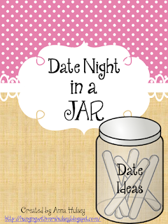 picture regarding Date Night Jar Printable known as Day Evening Jar (additionally totally free printables!) - Striking with Mrs