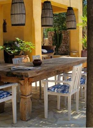 mesa exterior madera lavada