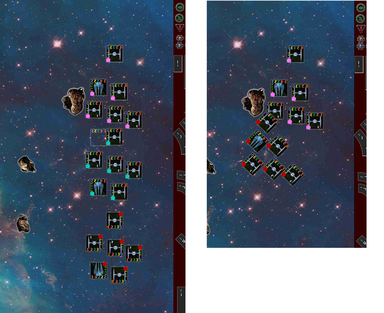 asteroid x wing placement - photo #14