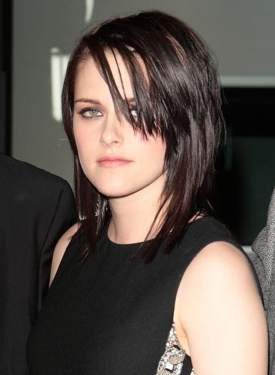 Kristen Stewart Straight Layered Hairstyle