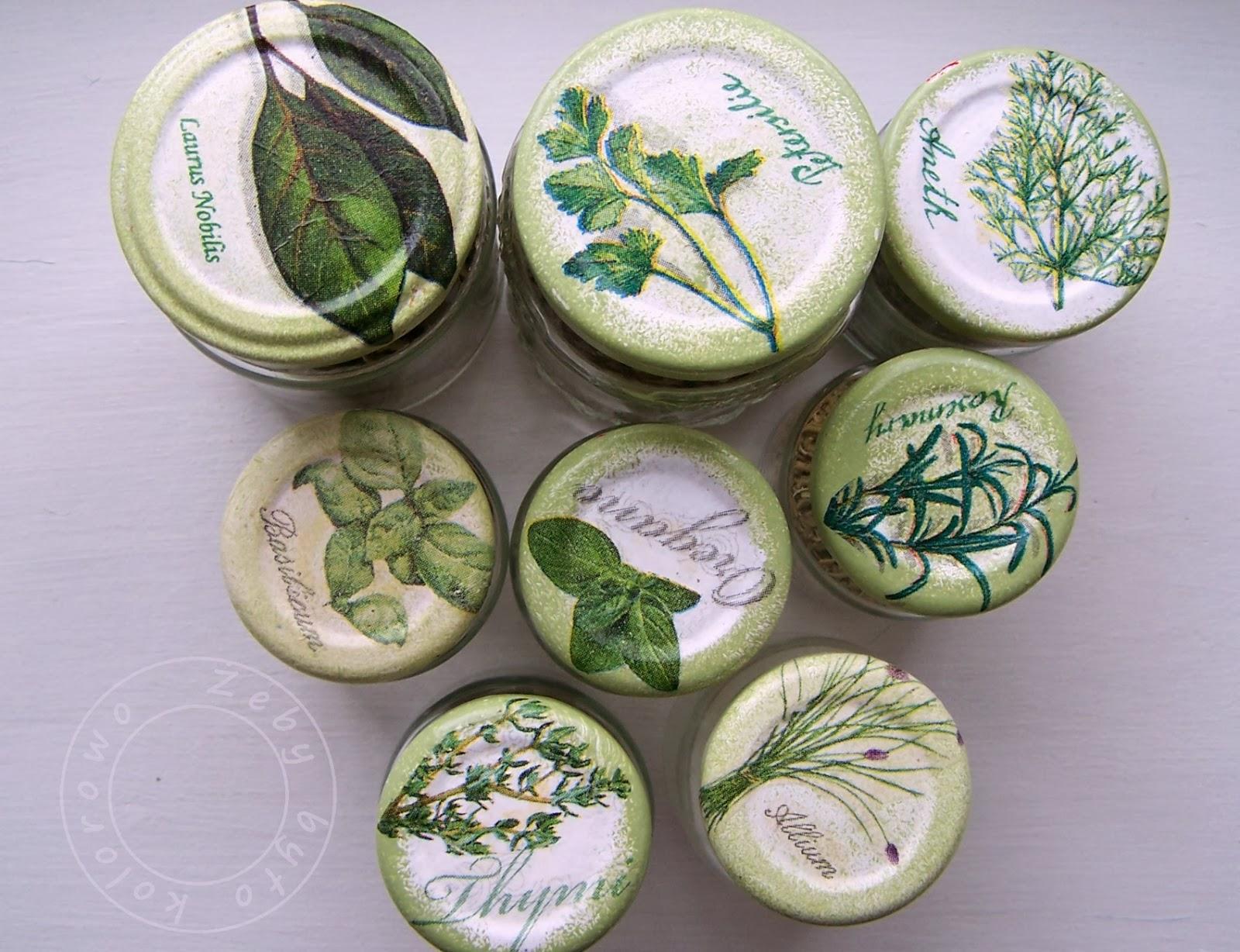 pojemniki na przyprawy w zioła